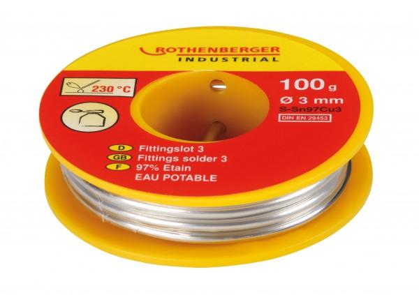 Lot Fittings- 3 L-Sn Cu3 100 g