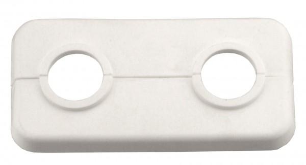Doppel-Klapprosette 18 mm Weiss