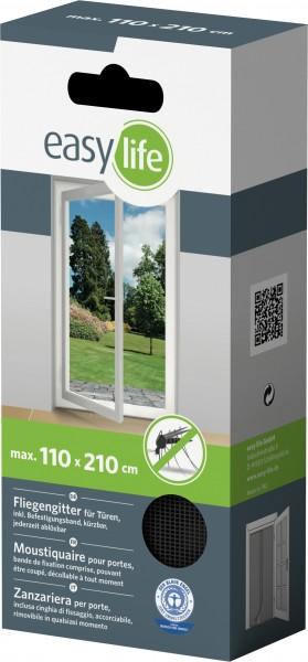 Is-Gitter-Tür 60 x 210 cm Anthr.