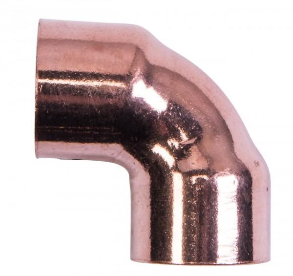 Cu Winkel 2 Muffen 90Ø 15 mm