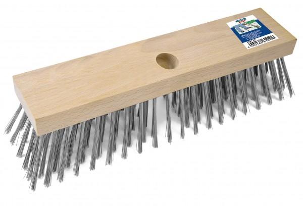 Stahldrahtbesen Flachholz 30 cm