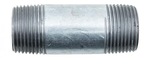 Verzinkt Rohrnippel 1'x 80 mm