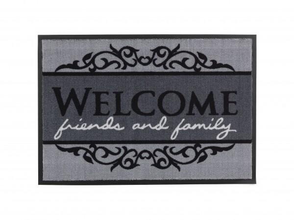 Fußmatte Homelike Welcome Grau