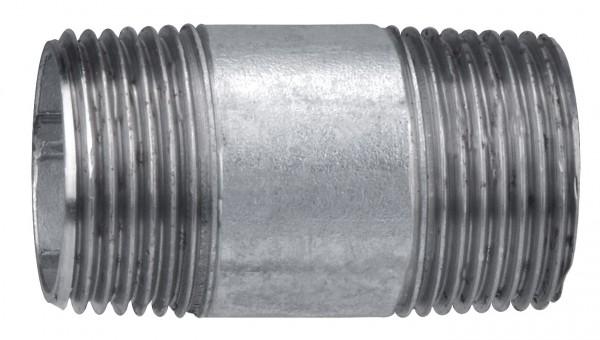 Verzinkt Rohrnippel 1'x 60 mm