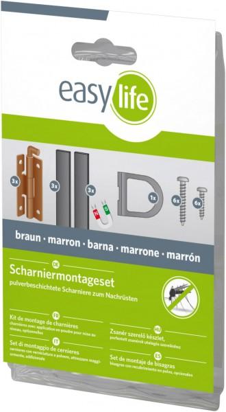 Scharnier-Montageset Braun
